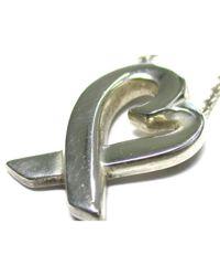 Tiffany & Co Metallic Paloma Picasso Silver Silver Necklace
