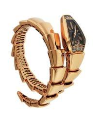 BVLGARI Black Pink Gold Watch
