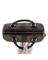 Bolsa de mano en lona marrón Fendi de color Brown
