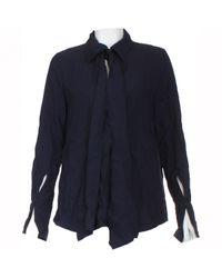 Camisa en algodón marino Chloé de color Blue