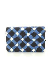 Chanel Blue Wallet On Chain Leder Handtaschen