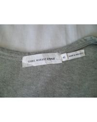 Étoile Isabel Marant Gray Grey Cotton Top