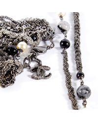 Chanel Gray Grey Metal Jewellery Sets