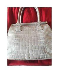 Valentino Gray Aligator Handtaschen