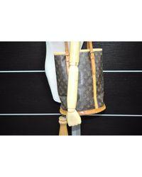 Louis Vuitton Brown Bucket Leinen Handtaschen