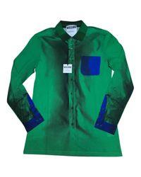 Moschino Green Cotton Polo Shirts for men