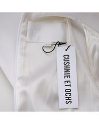 Robe en Viscose Blanc Cushnie et Ochs en coloris White