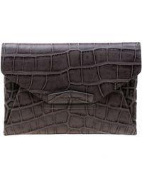 Pochette en cuir Givenchy en coloris Gray
