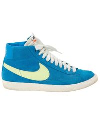 Nike Blue Suede Trainers for men