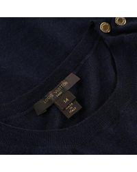Louis Vuitton Blue Kaschmir Pullover