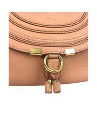 Bolsa de mano en cuero rosa Marcie Chloé de color Pink