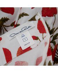 Robe en Coton - elasthane Blanc Oscar de la Renta en coloris White