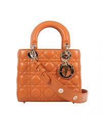Dior Orange Lady Leder Baguette Tasche