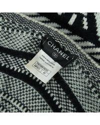 Chaqueta en cachemira negro Chanel de color Black