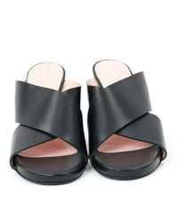 By Malene Birger Black Leder Clogs