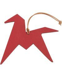 Hermès Petit H Red Leather Bag Charms