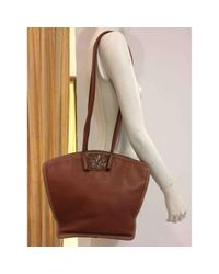 Loewe \n Brown Leather Handbag