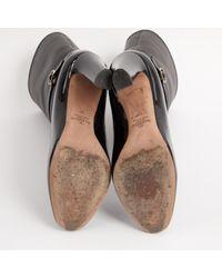 Botas en cuero negro Valentino de color Black