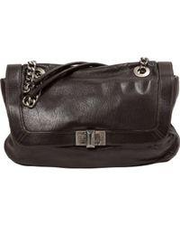 Bolsa de mano en cuero marrón Happy Lanvin de color Brown