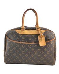 Louis Vuitton Brown Deauville Cloth Handbag
