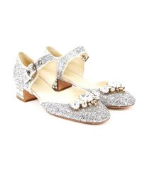 Miu Miu Metallic Mit Pailletten Pumps