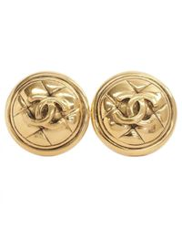 Chanel Metallic Ohrringe
