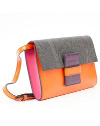 Etro - Purple Pre-owned Leather Crossbody Bag - Lyst