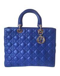 Dior Blue Lady Leder Cross Body Tashe