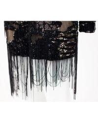 Roberto Cavalli Black Silk Dress