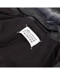 Vest en Cuir Gris Maison Margiela en coloris Gray