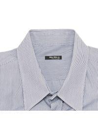Camicia in cotone antracite \N di Miu Miu in Blue da Uomo