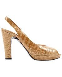 Hermès Black Krokodil Pumps