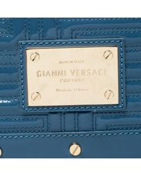 Versace Blue Lackleder Clutches