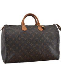 Louis Vuitton Black Speedy Leinen Handtaschen