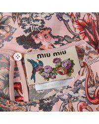 Miu Miu \n Pink Silk Top
