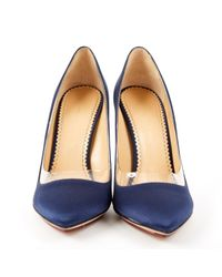 Charlotte Olympia Blue Navy Leather