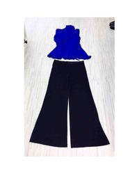 Jean Paul Gaultier Vintage Blue Viscose Jumpsuits