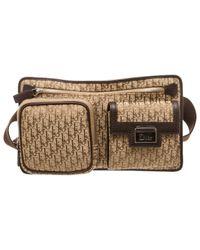 Dior Brown Leinen Clutches