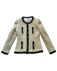 Chanel - Natural Vintage Beige Wool Jacket - Lyst