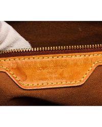 Louis Vuitton Brown Mezzo Leinen Handtaschen