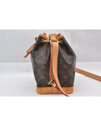 Louis Vuitton Brown Noé Leinen Handtaschen