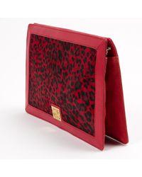 Loewe Red Pony-style Calfskin Clutch Bag