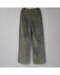 Pantalón largo de Terciopelo Brunello Cucinelli de color Gray