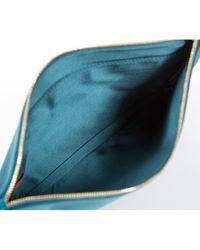 Charlotte Olympia Green Silk Clutch Bag