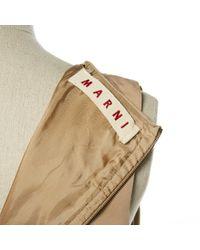 Robe en Coton Beige Marni en coloris Natural