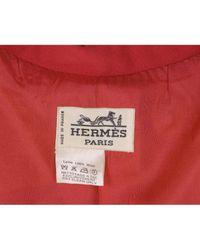 Hermès Red Wolle Kurzmäntel