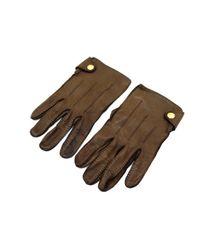 Gants en cuir Hermès pour homme en coloris Brown