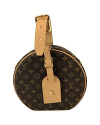 Louis Vuitton Brown Petite Boîte À Chapeau Leinen Handtaschen