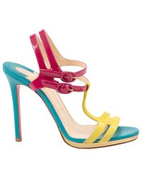 Christian Louboutin Multicolor Patent Leather Sandals