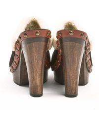 Miu Miu Brown Suede Mules & Clogs
